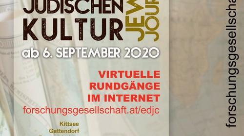 EUROPÄISCHE TAGE DER JÜDISCHEN KULTUR 2020 – diesmal virtuell