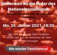 Anlässlich des Holocaust-Gedenktages: Gedenken an die Opfer des Nationalsozialismus