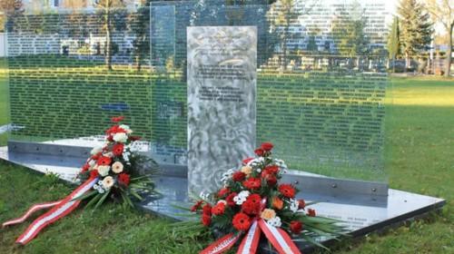 Gedenken an die Opfer des Todesmarsches der ungarischen Juden