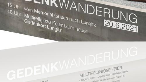Gedenkwanderung vom Memorial Gusen nach Lungitz