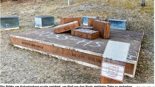 Denkmal für NS-Euthanasieopfer in Zirl beschmiert und mit Parolen verunstaltet