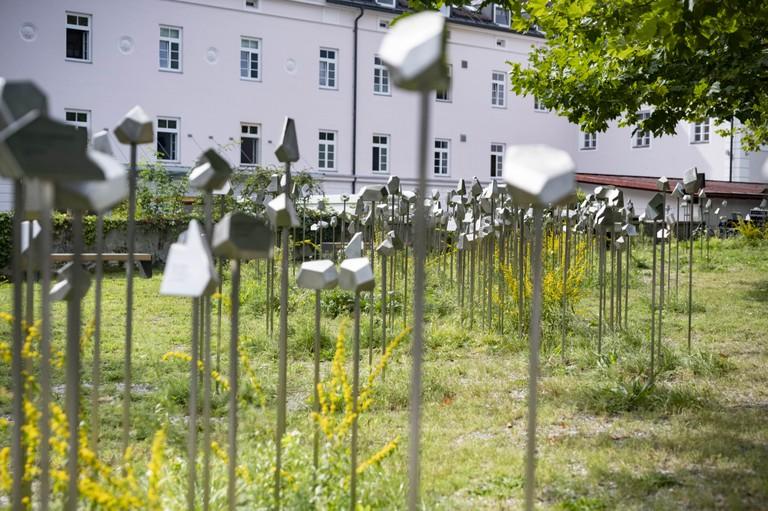 Neuer Gedenkort für die Opfer des Krankenmordes am Gelände des Landeskrankenhauses Hall in Tirol