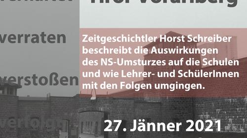 """Internationaler Holocaust Gedenktag – Online-Vortrag: """"Schule im Gau Tirol-Vorarlberg"""""""