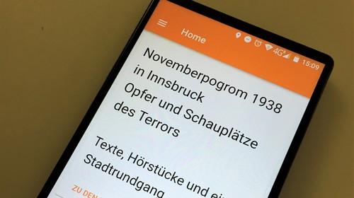 App zu den Opfern und Schauplätzen des Novemberpogroms in Innsbruck