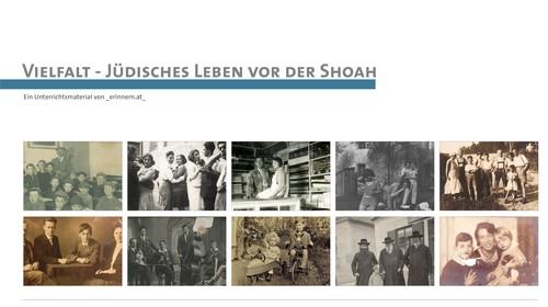 """Unterrichtsmaterial """"Vielfalt - Jüdisches Leben vor der Shoah"""""""