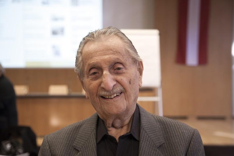 Marko Feingold am ZeitzeugInnen-Seminar 2015