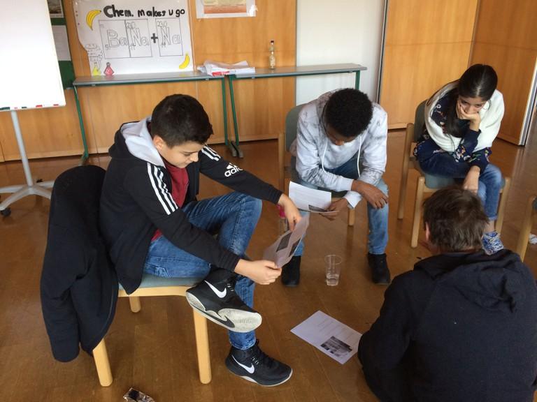 Fluchtpunkte-Workshop an einer Wiener Schule