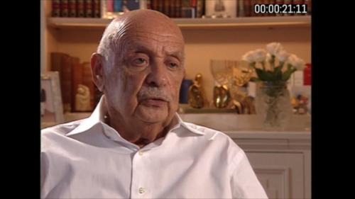 Paul Schaffer im Interview: Er floh von Wien über Belgien nach Frankreich, von wo er nach Auschwitz deportiert wurde.