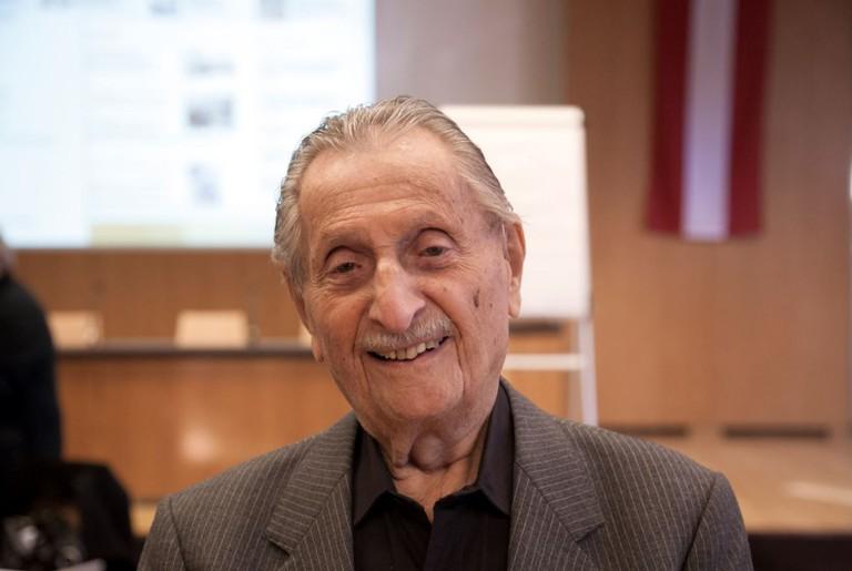 Marko Feingold am ZeitzeugInnen-Seminar
