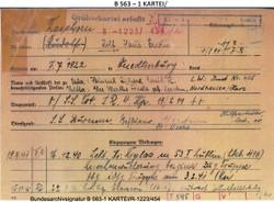 6 Bundesarchiv Berlin, Karteikarte Rudolf Rasenhorn