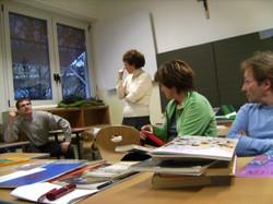 Workshop mit Mathilde Aspmair in der Adalbert-Stifter-Mittelschule in Bozen