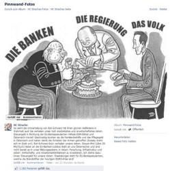 Veränderte Karikatur auf der Facebook-Seite von FPÖ-Obmann Strache