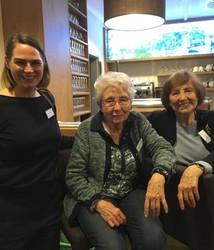 Katharina Müller gemeinsam mit Helga Feldner-Busztin und Elisabeth Scheiderbauer am ZeitzeugInnen-Seminar 2018