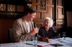 Albert Lichtblau im Gespräch mit Jehudith Hübner (Foto: Hans Hochstöger)
