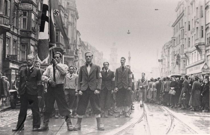 NS-Aufmarsch in Innsbruck, 11.3.1938. StA, Ibk