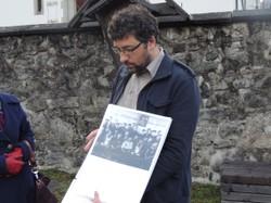 Eine Exkursion führte nach Schruns und ins Silbertal. Michael Kasper (Leiter der Montafon Museen) informierte über das dortige Zwangsarbeiterlager.
