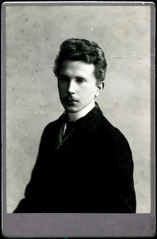 Hans Nägele als Student, etwa 1905. (Quelle: Vorarlberger Landesarchiv, Nachlass Nägele)