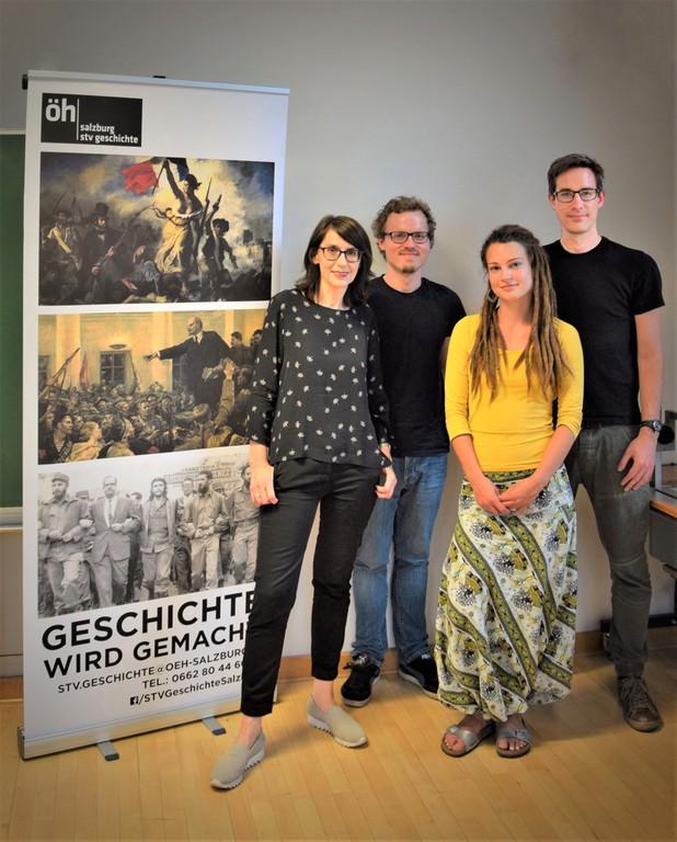 Margit Reiter mit den VeranstalterInnen