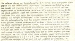 Es sind nur 17 Überlebende von Malyj Trostenez bekannt. Hier im Bild: Der Bericht des Wiener Überlebenden Wolf Seiler, beschreibt die Ankunft in Malyj Trostenez (DÖW).