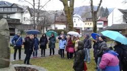"""Exkursion beim Zentralen Seminar mit Bernhard Gitschtaler von """"Erinnern Gailtal"""""""