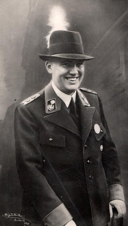 Gauleiter Franz Hofer in seiner Funktion als Oberschützenmeister (Stadtarchiv Innsbruck)