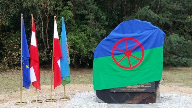 Denkmal für die ermordeten österreichischen Roma in Chelmno