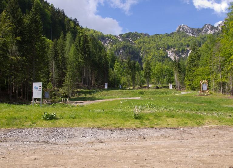 Areal des ehemaligen Konzentrationslagers Loibl Nord. Foto Peter Gstettner.JPG