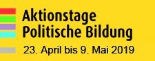 Auch 2019 finden die Aktionstage Politische Bildung wieder im gewohnten Zeitraum vom Welttag des Buches am 23. April bis zum EUropatag am 9. Mai statt.