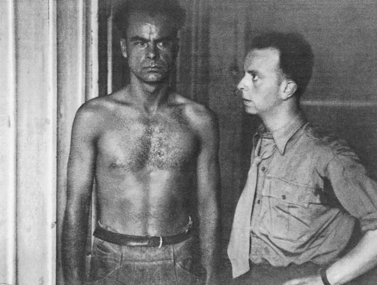 Gerhard Lausegger (links) und Frederic Berger, Sohn des ermordeten Richard