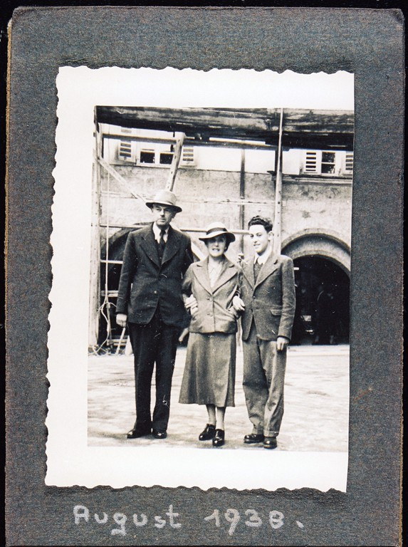 Abschied von Innsbruck: Josef Adler, Gertrud Weiss, Felix Adler (Foto Niko Hofinger)