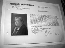 Klara Heymann, Ausweis ausgestellt zur Deportation 1940