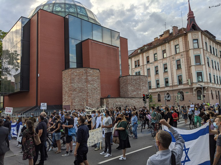 Solidaritätskundgebung in Graz, 23.8.2020 (© Gerald Lamprecht)