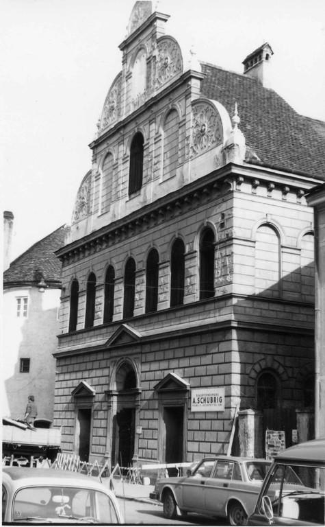 Synagoge Krems kurz vor dem Abriss  im Jahr 1978 (Quelle: judeninkrems.at / Dr. Robert Streibl)