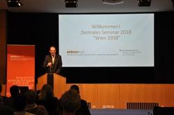 Eröffnung des Seminars durch Bundesminister Univ.-Prof. Dr. Heinz Faßmann.