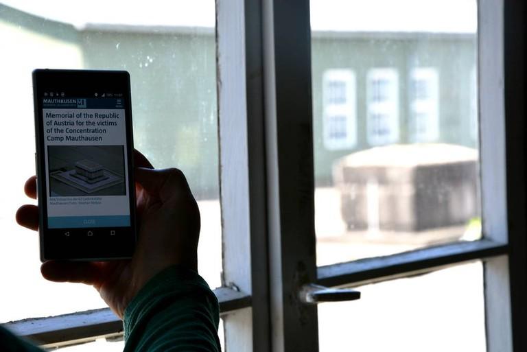 Audioguide-App Foto:Rupert Pilsl,KZ-Gedenkstätte Mauthausen