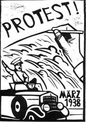 """März 1938: Mexiko protestiert gegen den """"Anschluss"""". Grafiken von Thomas Fatzinek sind ab 19. März 2018 am Mexikoplatz zu sehen."""