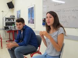 Jüdisch-arabischer Dialog - Studentin und Student in Lochamei HaGeatot