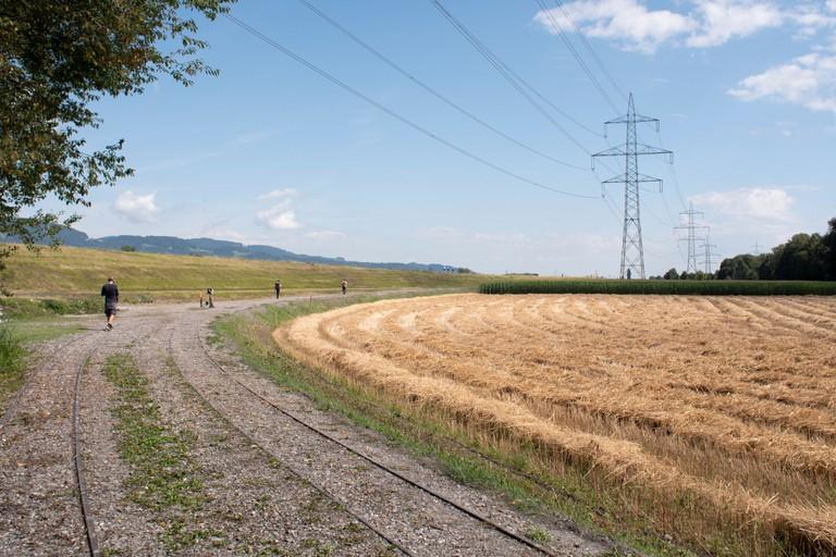 Der Hörspaziergang ist ein Projekt des Vereins NS-Zwangsarbeit am Rhein 2020. (Quelle: Miro Schawalder)