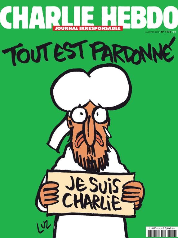"""""""Alles ist vergeben"""": Titelblatt von """"Charlie Hebdo"""", 14.1.2015"""