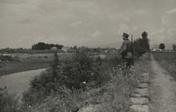 Grenzwache am Alten Rhein mit Blick auf den Zoll