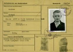 Registrierkarte eines jungen Zwangsarbeiters aus Russland, der in der Landwirtschaft arbeiten musste. (© Arolsen Archives)