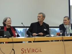 Diskussion mit Susanne Scholl (li), Werner Dreier und Astrid Reisinger Coracini