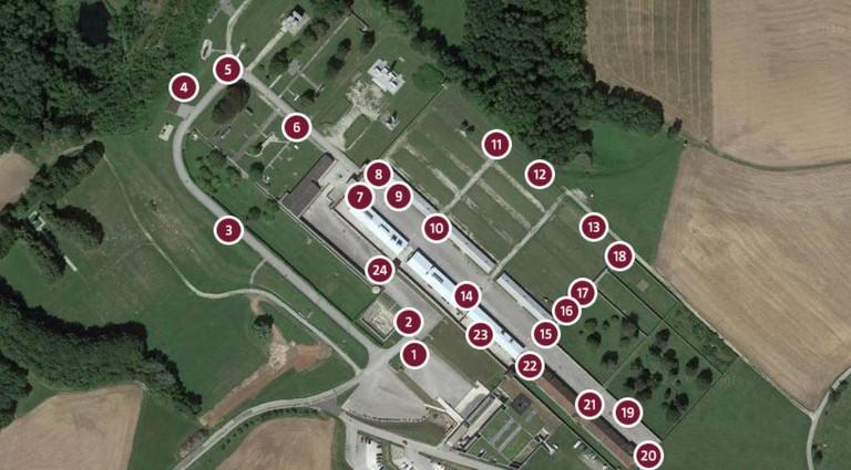 In 24 Audioguidestationen wird die Geschichte des KZ Mauthausen erzählt.