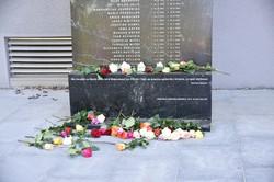 Das Denkmal für die Opfer der NS-Justiz Klagenfurt nach dem stillen Gedenken 2020