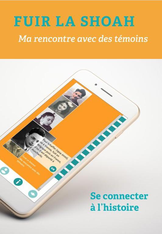 """""""Fuir la Shoah"""" - die französische Version der Lern-App """"Fliehen vor dem Holocaust"""""""