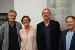 v.l. Werner Dreier (Geschäftsführer von _erinnern.at_), Adelheid Schreilechner (Netzwerk Salzburg), Johannes Hofinger (Autor), Horst Schreiber (Reihenherausgeber)