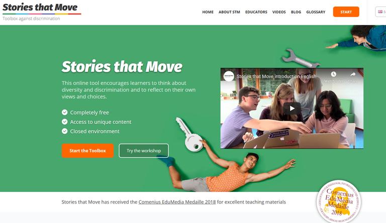 """Stories that Move"" Startseite"