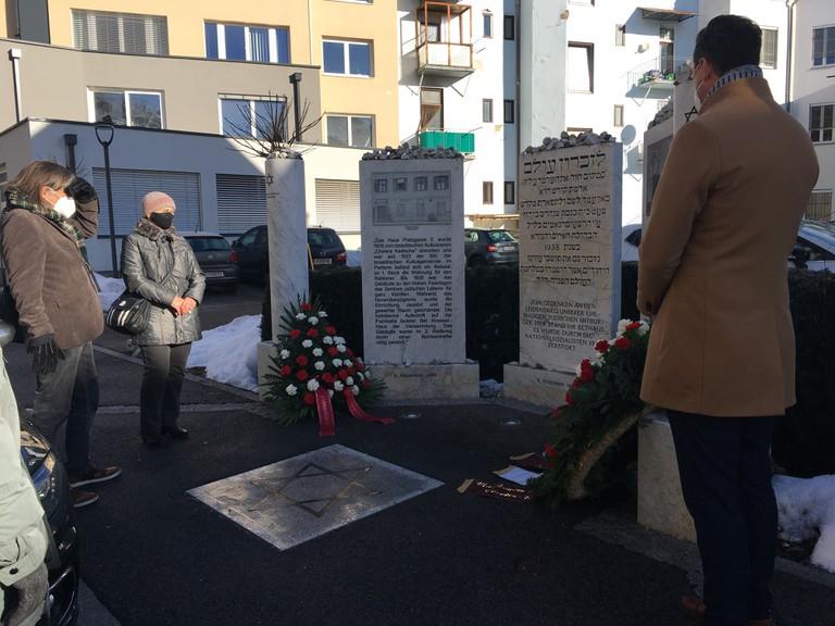 Stilles Gedenken in der Klagenfurter Platzgasse