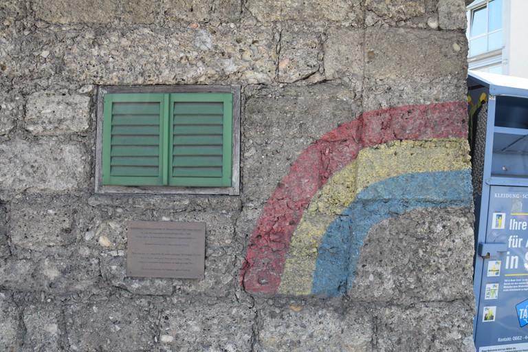 Erinnerungsgraffiti an die Befreier