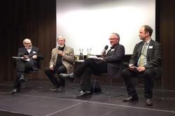v.l.: Werner Bundschuh, Alexander von Plato, Bertrand Perz und Jürgen Strasser
